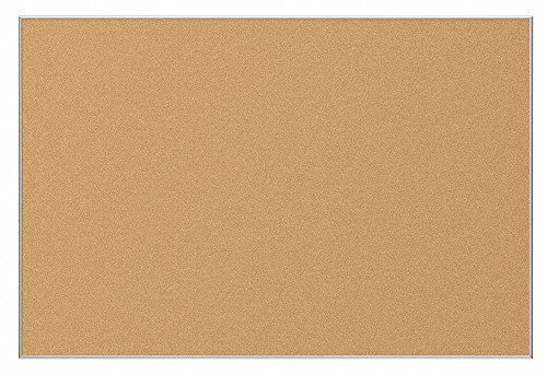 Best-Rite 3 x 4 Feet VT Logic Natural Cork Bulletin Board, Silver Ultra Trim (E3019C) - Balt Ultra Trim Board
