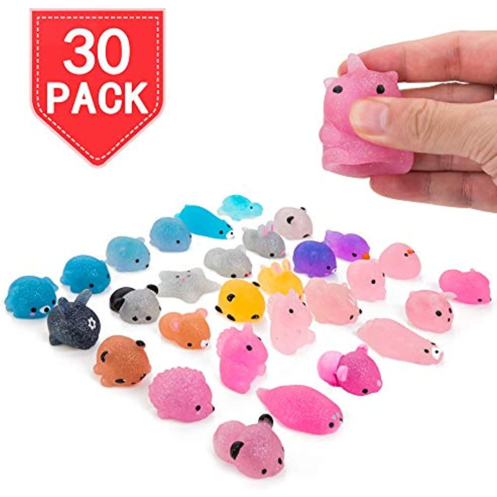 Squishy Miniatures Fidget Toys Glitter Squeeze Animal ...