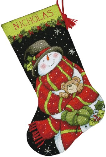Dimensions Crafts Needlepoint Stocking Snowman