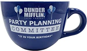 Silver Buffalo The Office Party Planning Committee Ceramic Soup Mug, 24-Ounce, Blue