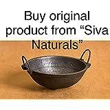 Siva Naturals Hand Made Cast Iron Kadai, 8.5-inch, 1.8kg