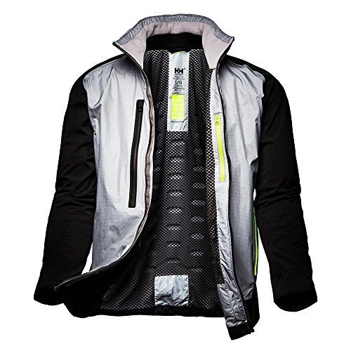 - Helly Hansen Mens Sail Ægir H2Flow Vented Waterproof Jacket, Silver Grey, Large