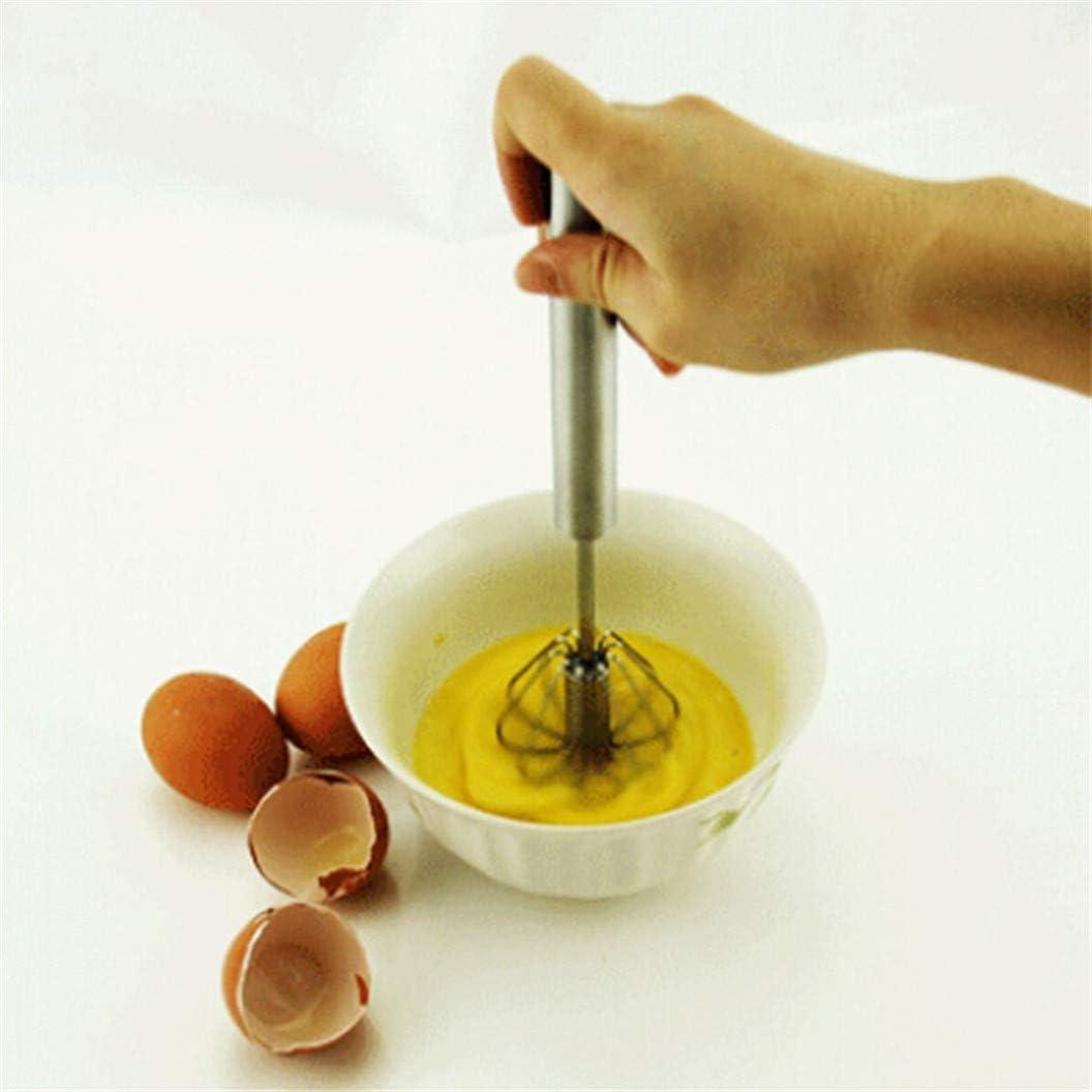 ULILICOO Egg Beater Handmixer Handdruck Rotierender Halbautomatischer Schneebesenmixer