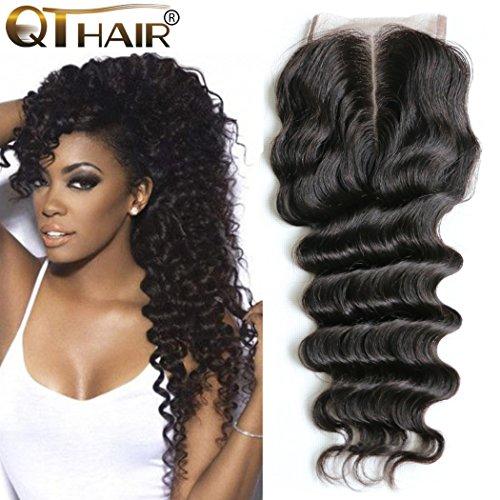 QTHAIR 10A Peruvian Virgin Hair Loose Deep Wave Human Hair 100% Unprocessed Peruvian Loose Deep Wave Virgin Hair Weave Natural Black Color Human Hair Bundles (12