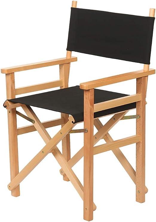 Lwjjby Silla Plegable Silla Plegable de Madera del Director Silla Plegable/ Silla Alta de Ocio/Silla Plegable al Aire Libre - Silla Alta (Color : A1): Amazon.es: Hogar