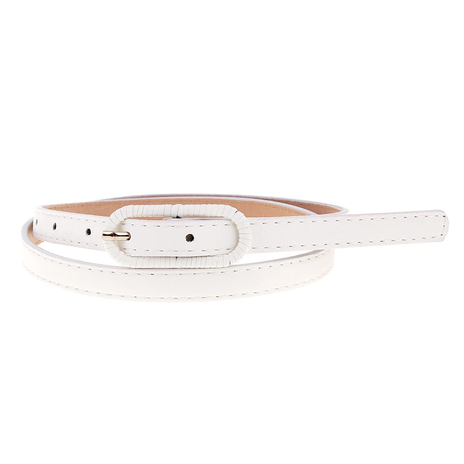 Damara Womens Wrapped Flat Buckle Hot Pants Belt in Holes