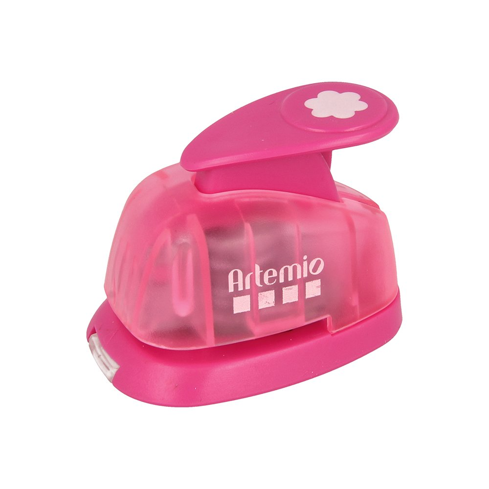Artemio-Mini numero 1, 2-Punzonatrice a leva, per carta, colore: rosa VIHCP811