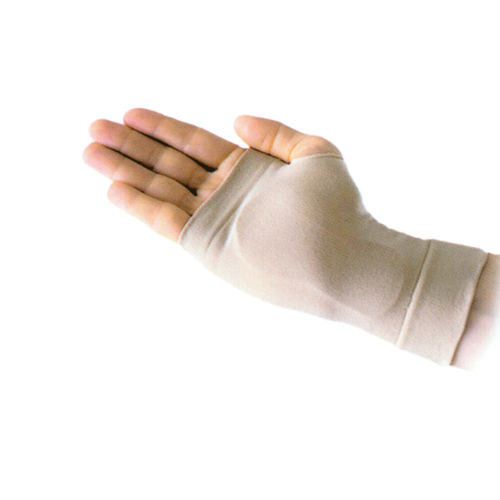 PDC Healthcare ORT4561 Wrist Hand Brace, Carpal Gel Sleeve, Right, Small/Medium, Natural