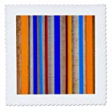 3dRose Alexis Photography - Abstracts - Abstract of metal and wood. Geometry of lines, play of colors - 22x22 inch quilt square (qs_267216_9)
