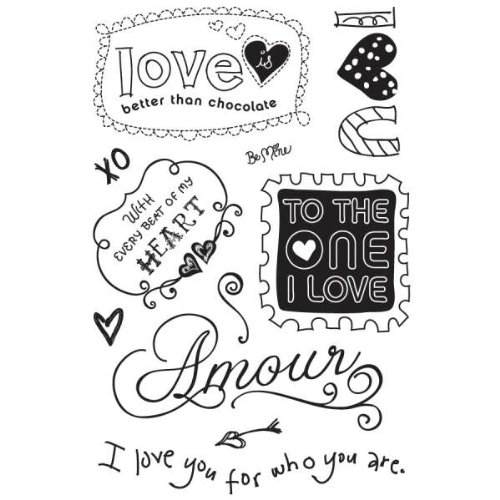 Basic Grey Sugar Rush Clear Self-Cling Stamps-Armour