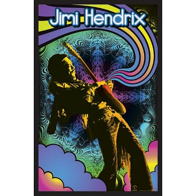 Jimi Hendrix Guitar Solo  Music Blacklight Poster Print  23 By 35 Inch