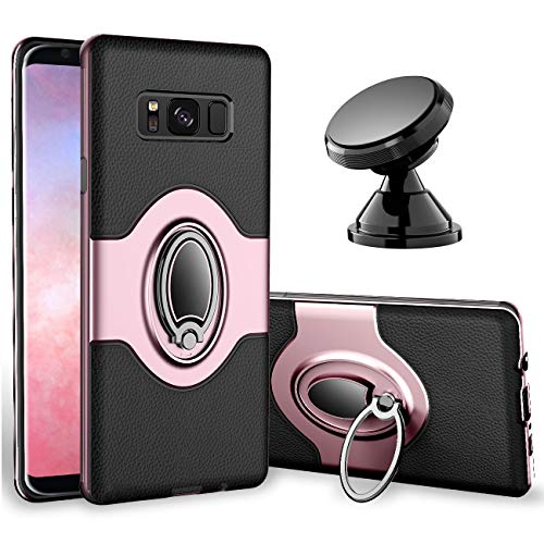 Samsung Galaxy S8 Case - eSamcore Ring Holder Kickstand Cases + Dashboard Magnetic Phone Car Mount [Rose Gold]