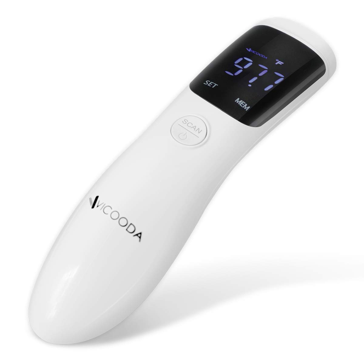 VICOODA Forehead Thermometer LCD Display, Intelligent Digital Medical Infrared Body Temporal Thermometer with Ear Function for Fever, for Kids, Children, Adults, Infants, Toddlers, FDA and CE Approved