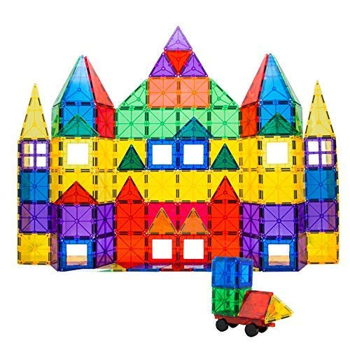 Smarty Pants Builder's Club | 110 Piece | 3D Magnetic Building Blocks | STEM Toys for Kids | Encourages Creativity & Learning | Educational Construction Set for Girls & Boys Age 3+(110 Magnetic Tiles)