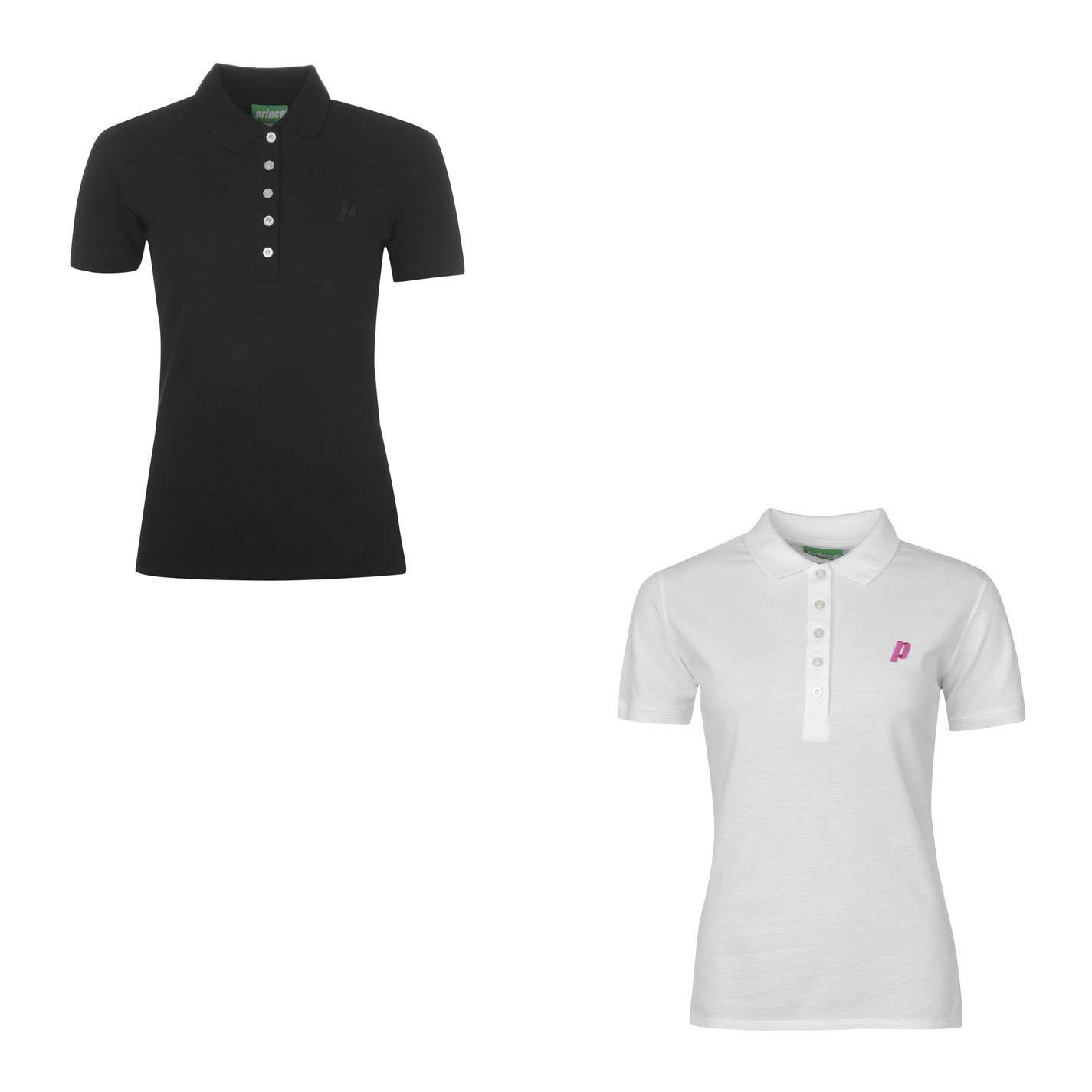 Prince - Polo de Tenis para Mujer - Blanco - 42 ES (L): Amazon.es ...
