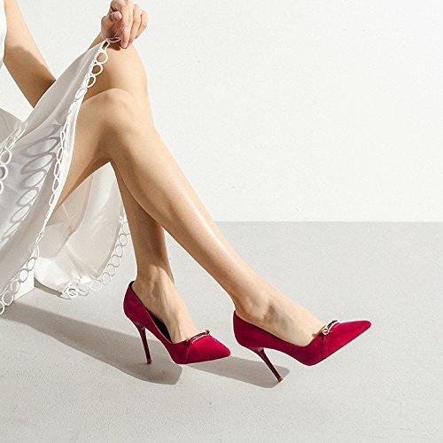 Party Femme Hauts Travail Femmes Sexy Red Nightclub 5 5cm UK Tribunal De Noir Mode Mariage Talons Chaussures EU 8 Chaussures 5 38 Mat F4w6F