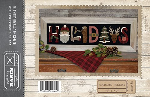 (Woodland Holiday Wall-hang wool applique pattern - by Buttermilk Basin - 10