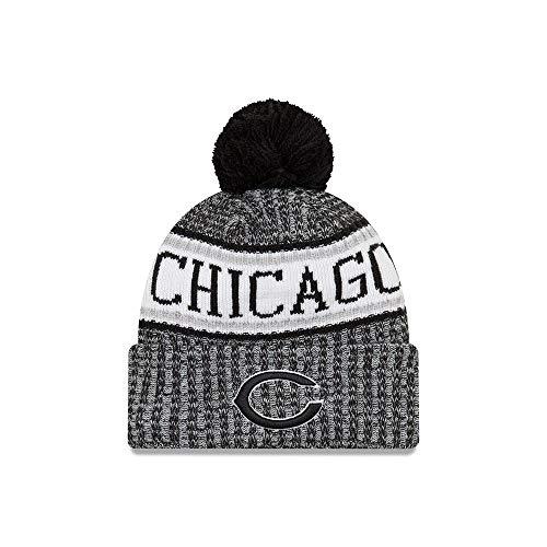 (New Era Chicago Bears Black & White 2018 Sport Knit NFL Beanie, OSFM)