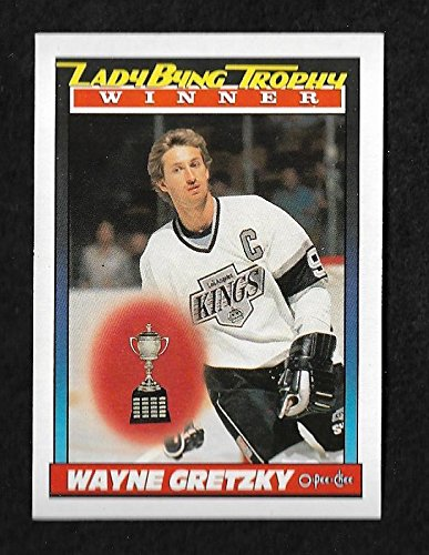 1991-92 Wayne Gretzky Byng Trophy Winner O-Pee-Chee Hockey Trading Card #520