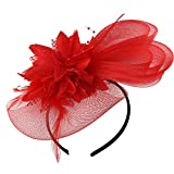 Acecharming Fascinator Hat with Headband for Women Lady