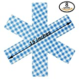 """Pan Protectors - Large 15"""" - Set of 8 - [Plaid Blue] - Cookware Guards and Savers Avoid Scratching Kitchenware Fajita Surface Pots and Pans Protector All Sizes Bowl Protector"""