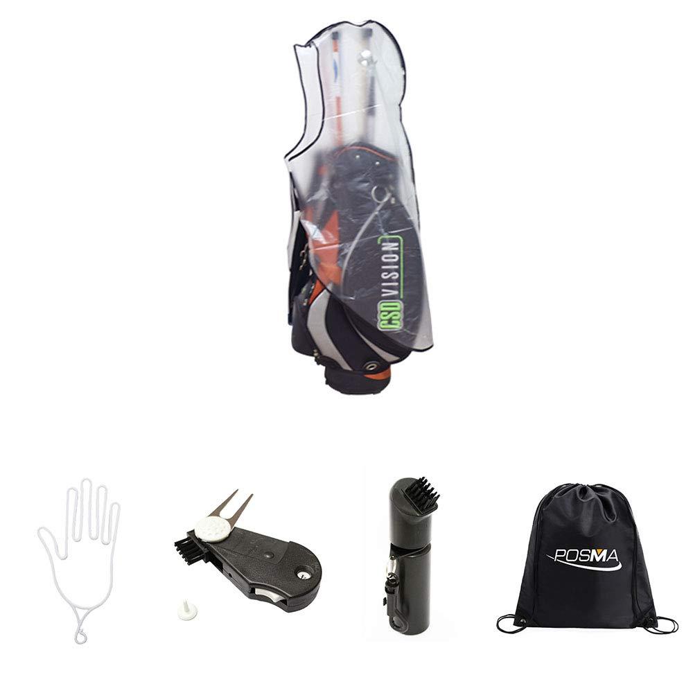a8c6f18d81aa Amazon.com : POSMA RC010A Golf Bag Rain Cover Bundle Set 1pc rain ...