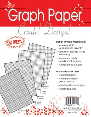 Crafters Helper Needlework 8.5x11 Graph Paper 40-sheets