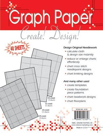 Crafters Helper Needlework 8.5x11 Graph Paper 4...