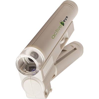 Hydrofarm Active Eye AEM100, 100x Magnification Microscope, White: Garden & Outdoor