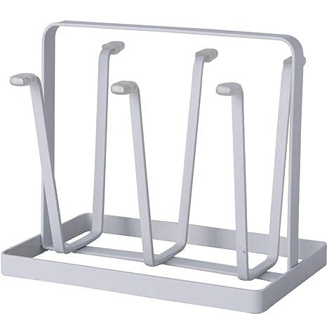 lixin Metal Cubiertos Rack Cocina Almacenamiento Rack (Color : Blanco, Tamaño : 21 *