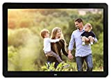 15.4 inch Digital Photo Frame 1080p and Video with a Motion Sensor and 16GB of Internal Memory - Black