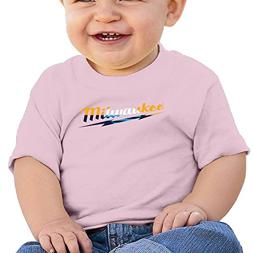 Power Tool Logo Milwaukee Cotton Trendy Short Sleeve Tops for Boy Gift 24 Months