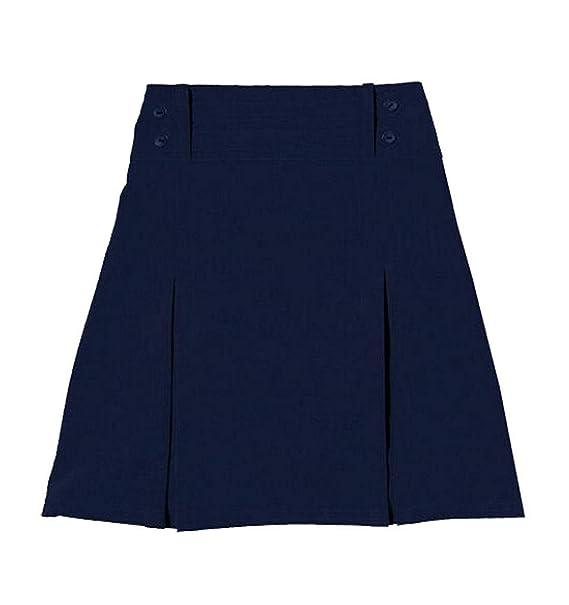 Fashion s Island Falda elástica Plisada con Cuatro Botones para ...