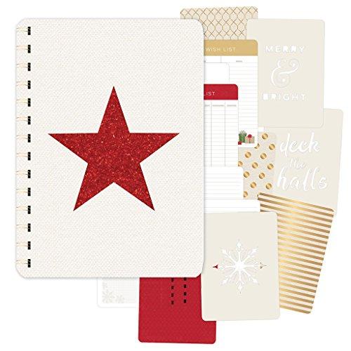 Pink Paislee Yuletide 39 Piece Gold Foil/Red Glitter Journal Document December