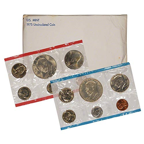 (1975 12 Coin US Mint Set in Original Government Packaging)