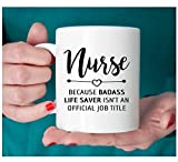 Gift for nurse, Nurse mug, Badass lifesaver official - Best Reviews Guide