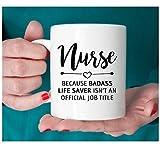 Gift for nurse, Nurse mug, Badass lifesaver official Review and Comparison