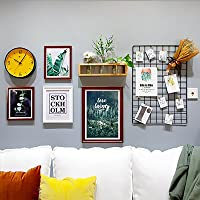 Large Multi Picture Photo Frame Frames Wall Set,Grid Photo Wall,160X83cm,B