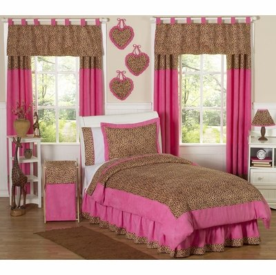 Sweet Jojo Designs 4-Piece Cheetah Girl Pink and Brown Childrens Bedding Twin Set by Sweet Jojo Designs