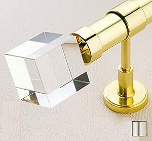 WinarT USA 8.1049.25.01.280 Febris 1049 Curtain Rod Set - 1 in. - Matte Nickel - 110 in.