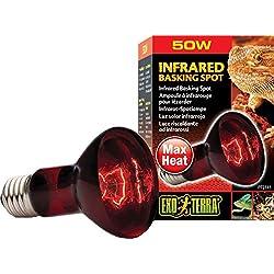Exo Terra Heat-Glo Infrared Spot Lamp, 50-Watt/120-Volt