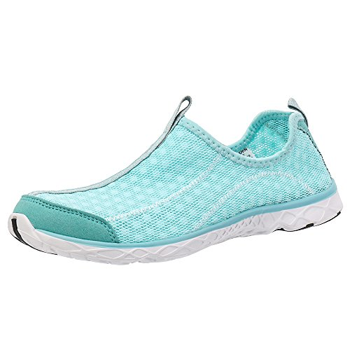 Athletic Water Shoes Aleader Women's Beach Walking Shoes Light Blue 8.5 D(M) US