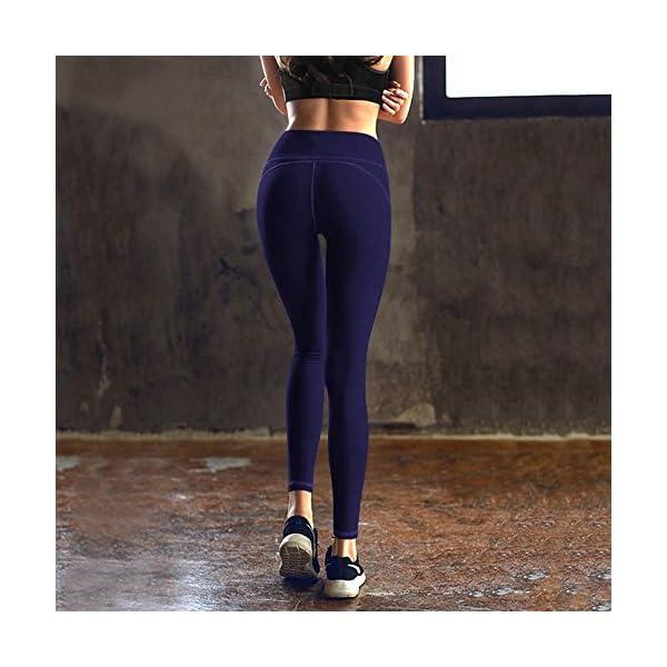 848ddbc895 IUGA High Waist Yoga Pants Inner/Out Pocket Design, Tummy Control ...