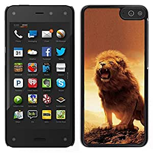 LECELL--Funda protectora / Cubierta / Piel For Amazon Fire Phone -- Rugido del león de Orange Sunset África Amarillo --