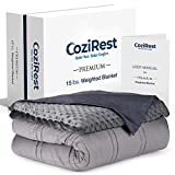 CoziRest Cooling Weighted Blanket | 15 lbs | 60x80...