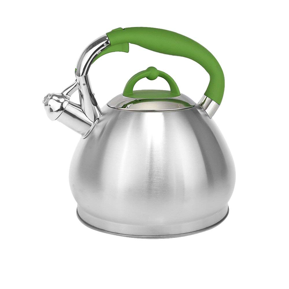 Voche ® 3 litri Bollitore in Acciaio Inox Fischio GAS INDUZIONE ELETTRICA