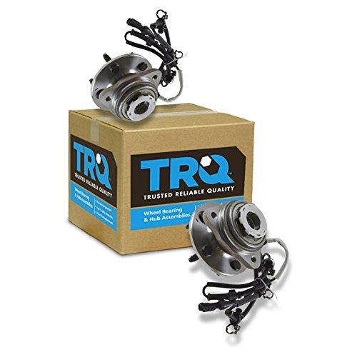 (TRQ Front Wheel Hub & Bearing Pair Set of 2 for Ranger B-Series Pickup 4WD)
