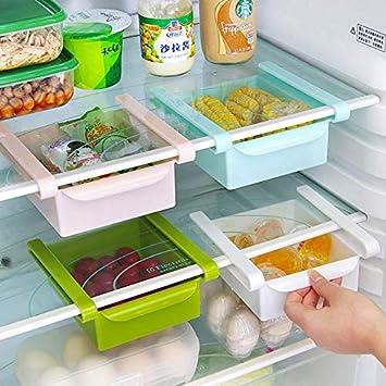 Almacenamiento de congelador Verduras etc. Carnes Estante Organizador para Bebidas FOONEE Soda Organizador de Nevera refrigerador extra/íble Organizador de Huevos para Nevera