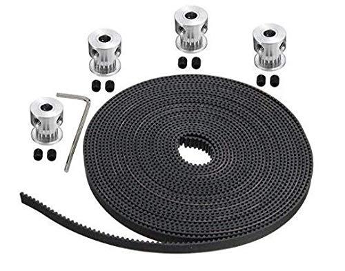 Xsentuals 5 Meters GT2 6MM Open Timing Belt + 4 Pcs GT2 Timing Pulley 20 Teeth 5MM Bore Price & Reviews