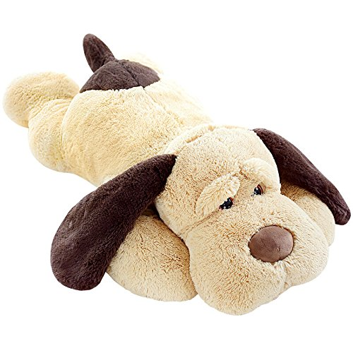 (MorisMos Puppy Dog Stuffed Animal Soft Plush Dog Pillow Big Plush Toy for Girls Kids (Small-31 Inch))